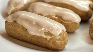 Заварные пирожные Эклеры / Homemade Eclair ♡ English subtitles