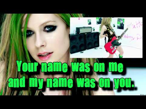 Avril Lavigne - Smile (Instrumental) (Lyrics)