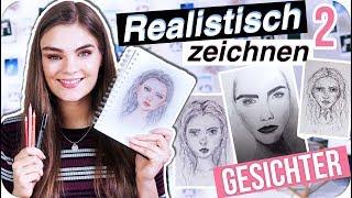 GESICHTER REALISTISCH ZEICHNEN - Portrait Tutorial & Tipps für Anfänger Teil 2 // I'mJette