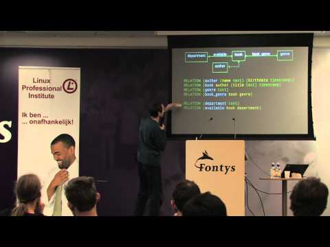 noSQL T-DOSE 2013 Open Source, SQL
