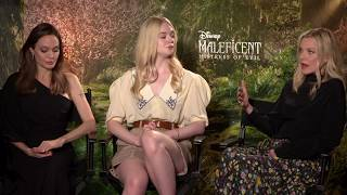 Angelina Jolie, Elle Fanning & Michelle Pfeiffer - Maleficent Mistress of Evil Interview