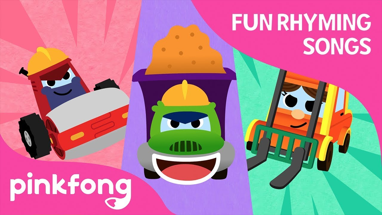 Go Go, Trucks | Fun Rhyming Songs | Pinkfong Songs for Children