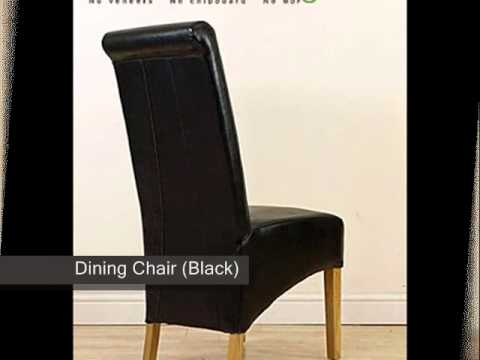 High Quality Montana Leather Dining Chair Black)