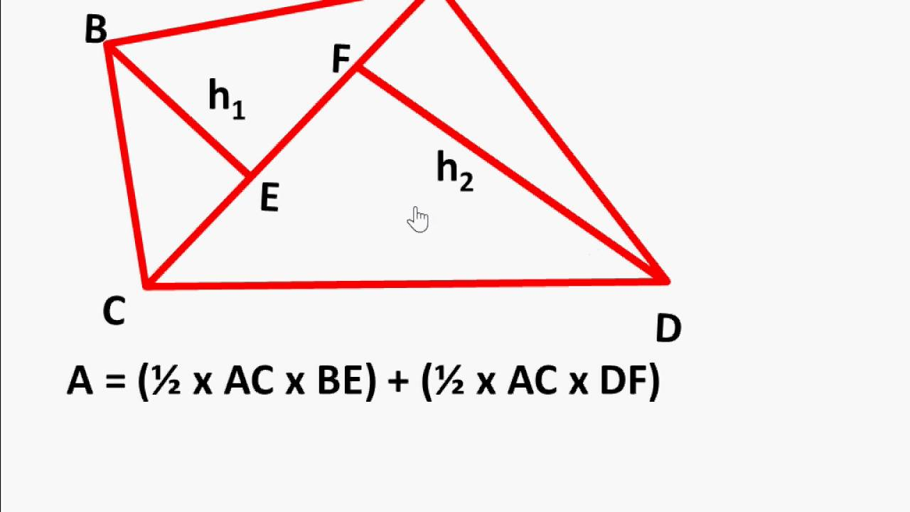 Maths How To Find Area Of Any Irregular Quadrilaterals And Rhombus English