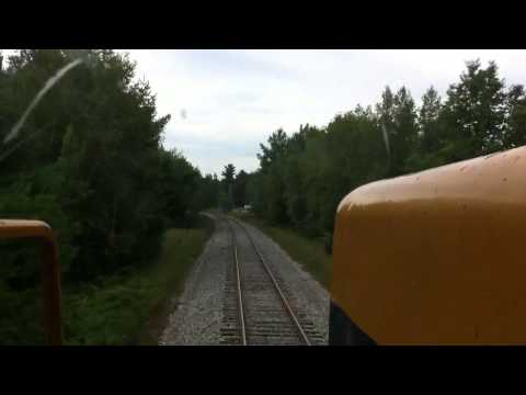 NECR 3855 Cab Ride Going Through Milton Vermont
