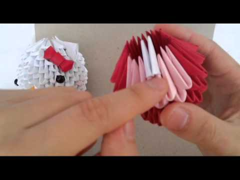 3d Origami Hello Kitty New Version Part 1 Youtube