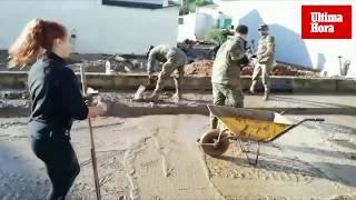 Intensas labores de limpieza en Sant Llorenç tras las inundaciones