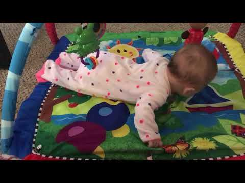 Gracie working hard at trying to crawl! - 13 Weeks 3 Days Old