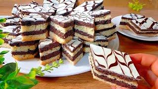 جديد حلويات العيد2021 حلوى الزمن الجميل بكأس زيت فقط حضري حلوى الطبقات السريعة  بدون زبدة هشيشة تذوب