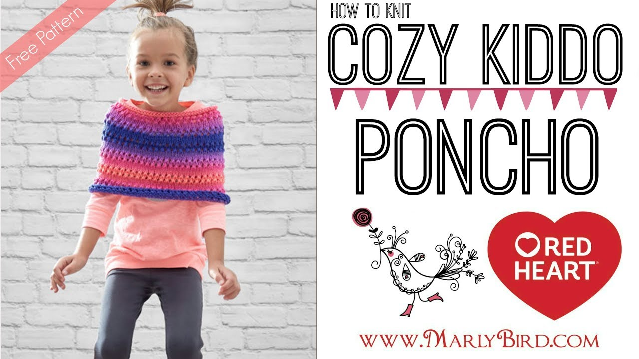 b2e6e8049 How to Knit Cozy Kiddo Poncho - YouTube