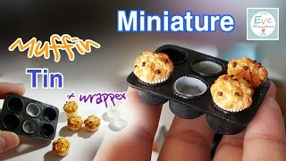 미니어쳐  ✔머핀틀(컵케이크 마들렌트), 클레이 유선지  ✔ Miniature muffin tin and cupcake wrapper tutorial.mp3