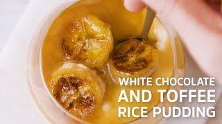 White Chocolate Rice Pudding