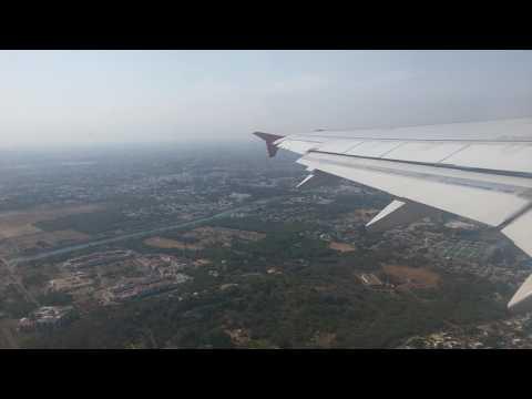 Beautifull Top view of Tirupati temple from plane