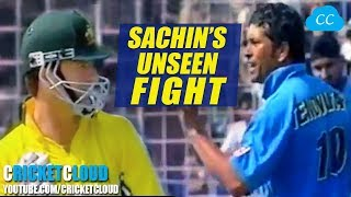 SACHIN'S UNSEEN FIGHT with Steve Waugh  - Tendulkar Won at the End !!