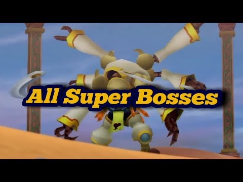All Kingdom Hearts Series - Super Bosses [Read the Description]