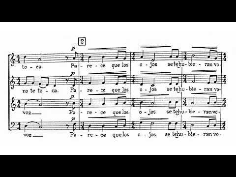 Blas Galindo - Me Gusta Cuando Callas, after Pablo Neruda (Score video)