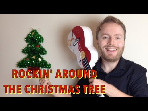 Rockin' Around The Christmas Tree - EASY UKULELE TUTORIAL