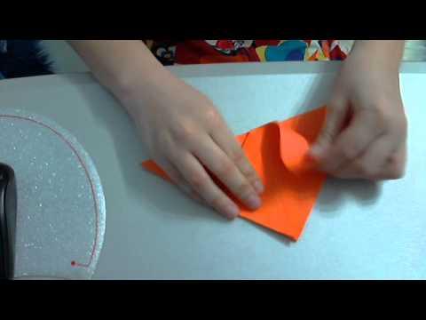 Видео тюльпан из бумаги
