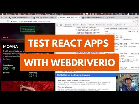 Test React Apps with WebdriverIO
