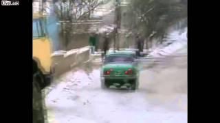 Подборка автомобилей на летней резине зимой