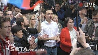 Срочно! Очень много людей на Трубной в Москве! Встреча с оппозиционными кандидатами в депутаты