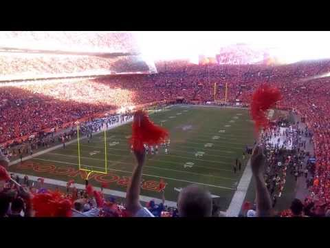 Denver Broncos fans / AFC Championship Game / 2min. warning / 4th quarter / 2014 / Patriots