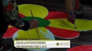 Casa de la cultura de Rionegro abre inscripciones para el 2019