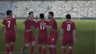 Pro Evolution Soccer 2013 DEMO Gameplay in HD Germany vs Portugal Part 2/2 (XBOX 360 & PS3)