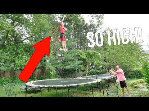 HOW TO GET HIGHER BOUNCE ON A TRAMPOLINE!