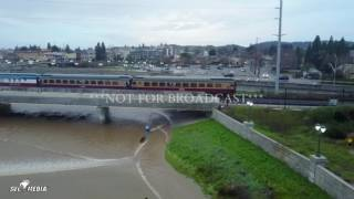vincent piombo napa ca drone footage severe flooding napa river 1 9 2017 nfb