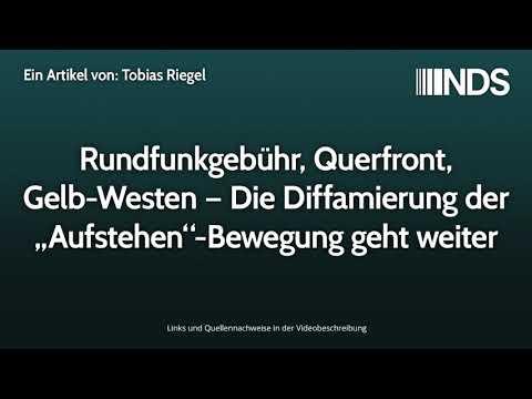"""Rundfunkgebühr, Querfront, Gelb-Westen – Die Diffamierung der """"Aufstehen""""-Bewegung geht weiter"""