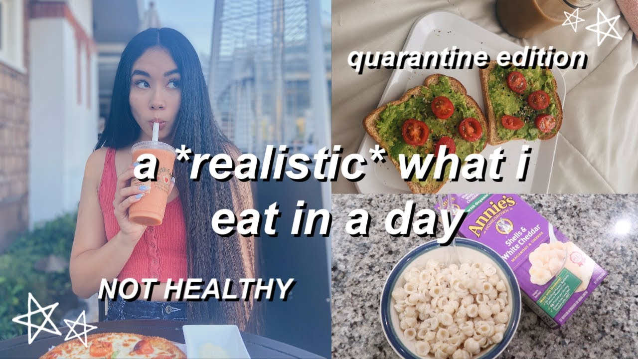 what i REALLY eat in a day during quarantine