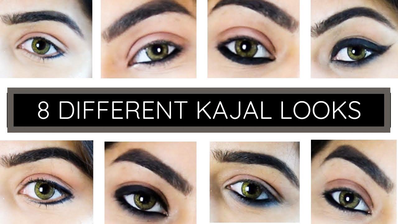 Download 8 DIFFERENT KAJAL LOOKS    HOW TO APPLY KAJAL