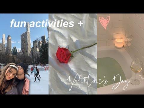 VLOG | Valentine's Day, Ice Skating In Central Park, + Movie Night