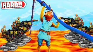 The IMPOSSIBLE Ninja Warrior Deathrun Race! *RAGE* (Fortnite Creative Mode)