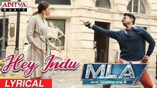 Telugutimes.net Hey Indu Lyrical || MLA Movie Songs