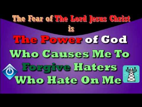 The Power of God Causes Me To Forgive Haters Who Hate On Me