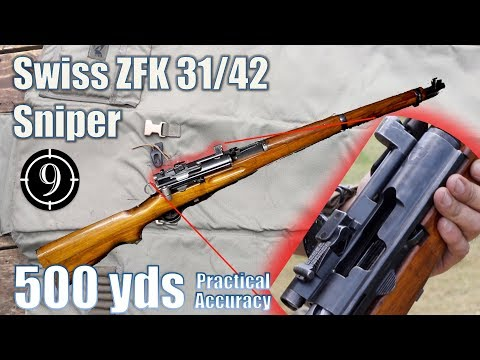 swiss-zfk-31/42-sniper-rifle-to-500yds:-practical-accuracy-(k31-sniper-with-gp11ammo)