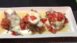 チキンの完熟トマトとモッツァレラの白ワイン蒸し thumbnail