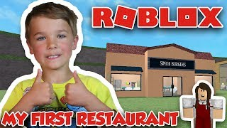 MY FIRST RESTAURANT ! | ROBLOX RESTAURANT TYCOON | SIMON BURGERS