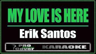 My Love Is Here - Erik Santos (KARAOKE)