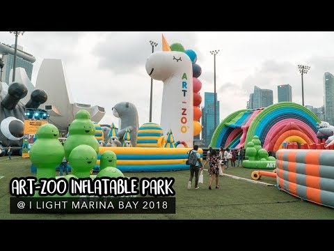 Art-Zoo Inflatable Park 2018: 19m Tall Unicorn Slide, Six-Storey Tall Gorilla and More!