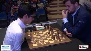 Anish Giri vs Magnus Carlsen, Tata Steel India Rapid 2019