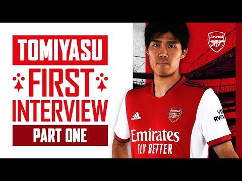 Takehiro Tomiyasu's first interview |  Welcome to Arsenal |  Part One