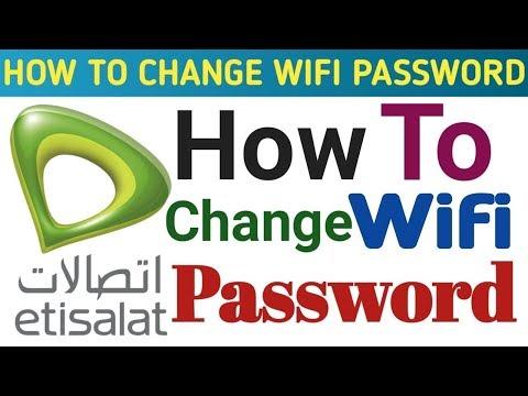 How can change WiFi password Etisalat UAE 2018