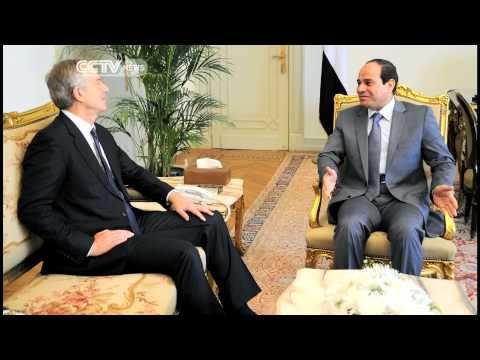 Tony Blair in Cairo for talks over Gaza violence