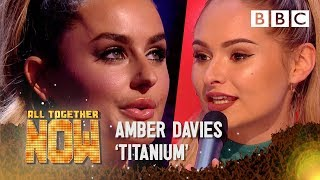 Reality TV Star Amber Davies faces 100 after 'Titanium' act - All Together Now