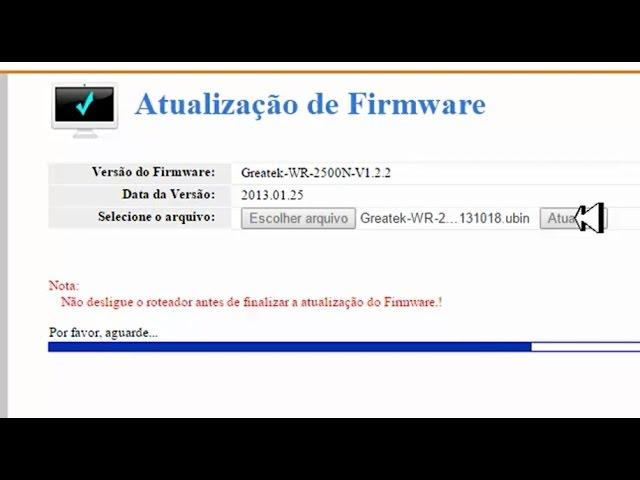download da versão firmware greatek wr 2500n