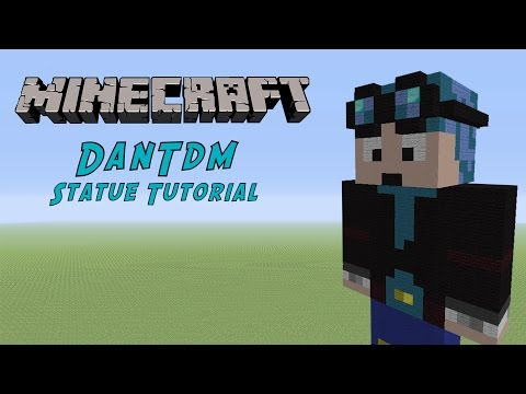 Minecraft Tutorial: DanTDM (The Diamond Minecart) Statue