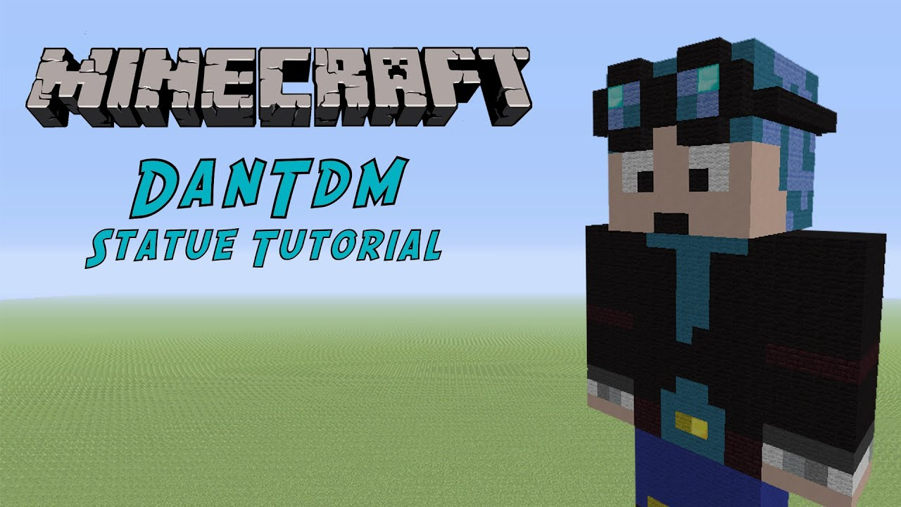 Minecraft Tutorial: DanTDM (The Diamond Minecart) Statue ...